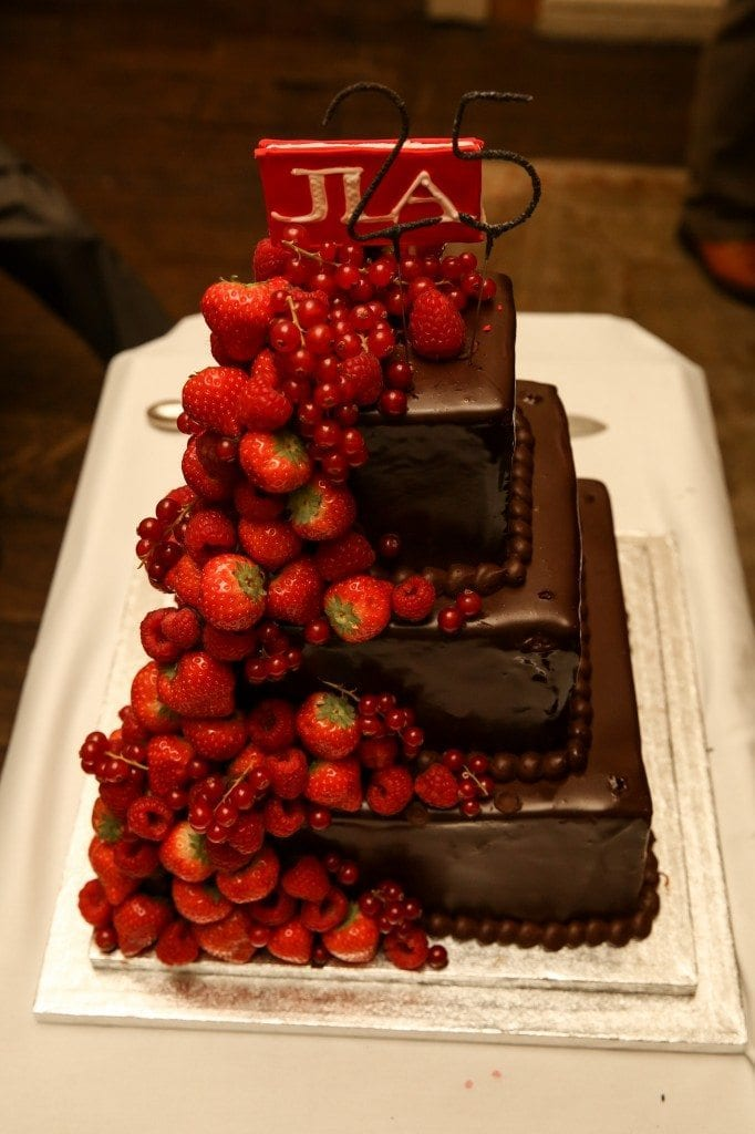 JLA party cake