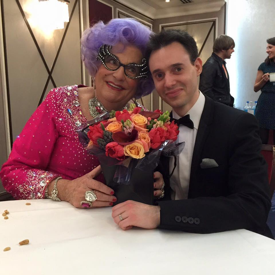 Ben Arnold and Dame Edna
